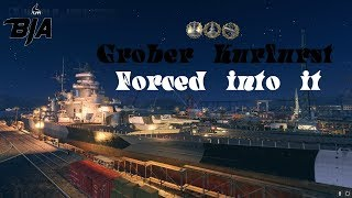 World of Warships-Grober Kurfust Forced into it