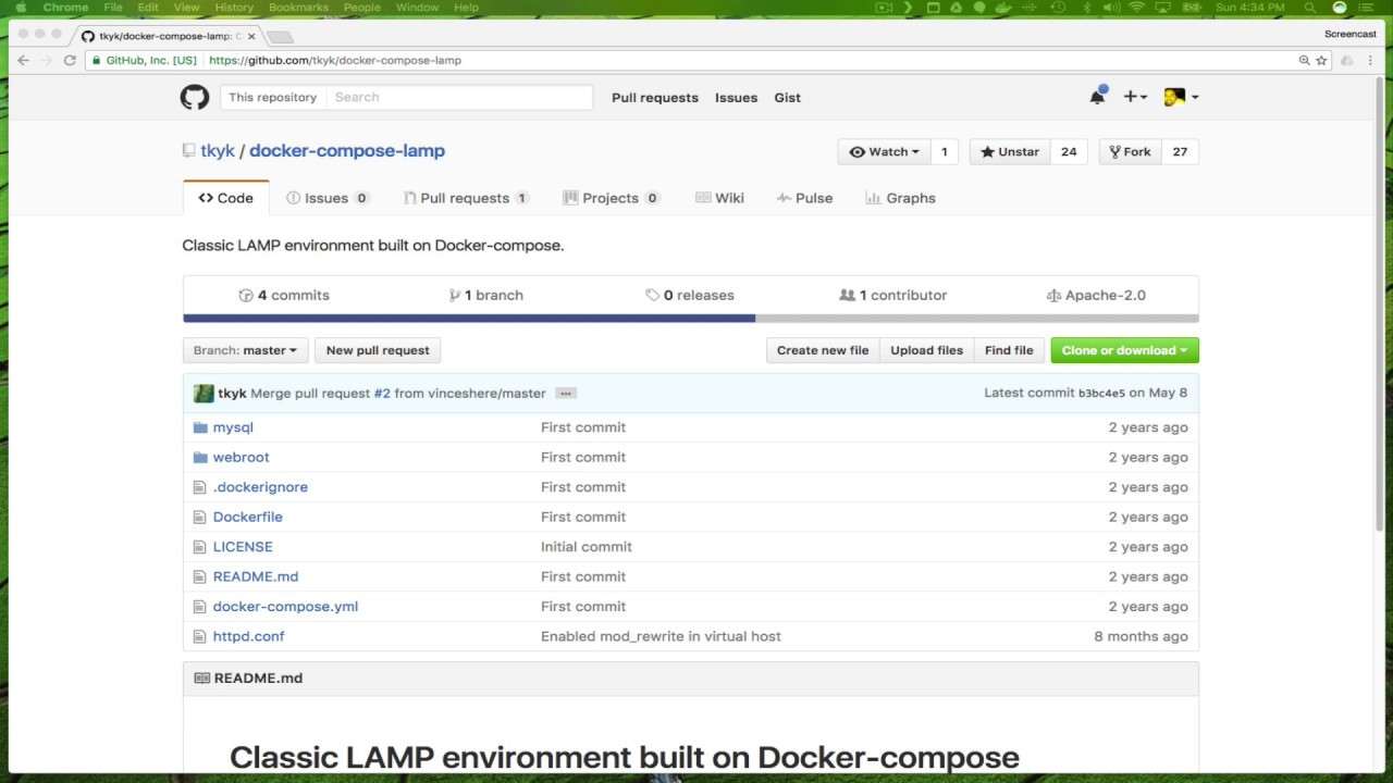 Installing A LAMP Server With Docker