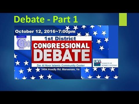 1st District Debate - Virginia - Election 2016 - Part 1
