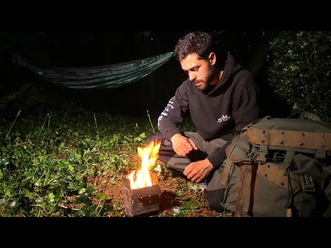 Fishing & Bushcraft - Catch, Cook, Fillet And Solo Overnight Wild Camping In The Forest