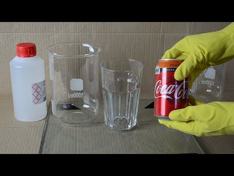 Remove coke can from coke - Homemade chemical experiment DIY