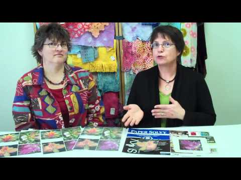Direct printing vs image transfer for the textile artist