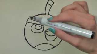 How to Draw Black Angry Birds in Pencil - Artist Rage