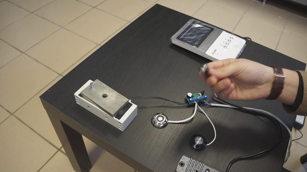 Как подключить видеодомофон и проходную систему с магнитным замком