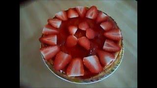 Чізкейк з полуничним варенням. Чизкейк с клубникой.  #Cheesecake with strawberry jam#