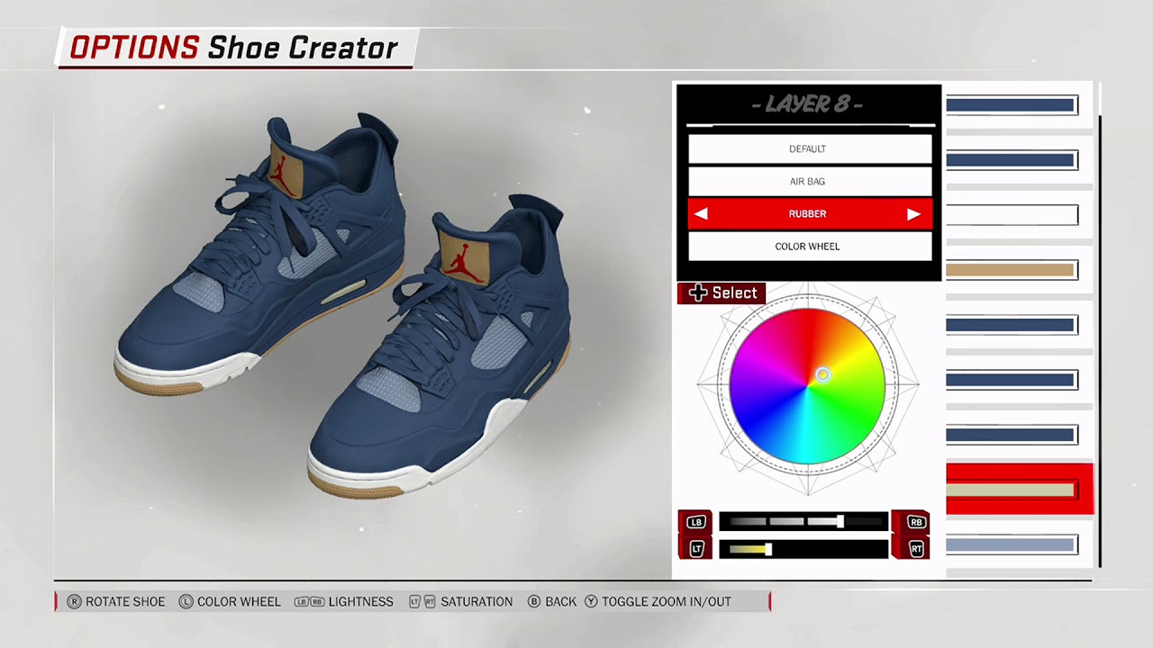 NBA 2K18 Shoe Creator - Air Jordan 4 x Levis