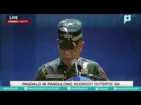 Pagdalo ni Pangulong Rody Duterte sa ika-10 Anibersaryo ng Eastern Mindanao Command