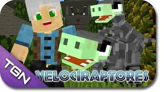 Minecraft Parque dos Dinossauros 3 - EP 11 - VELOCIRAPTORES