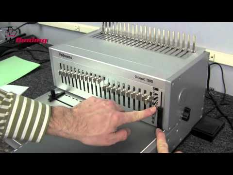 Fellowes Orion E 500 Plastic Comb Binding Machine System Demo - 1-800-944-4573