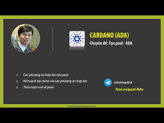 Chuyên đề: Tạo pool ADA và các phương án hợp tác