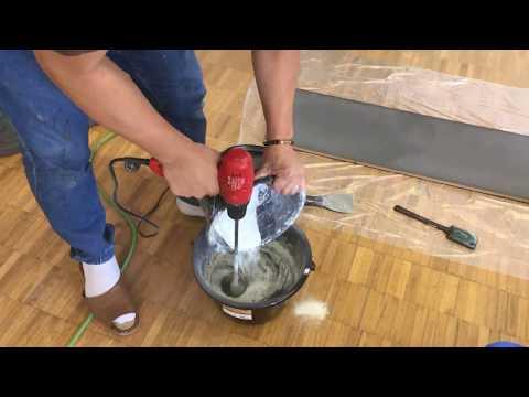 モールテックス施工材料の撹拌