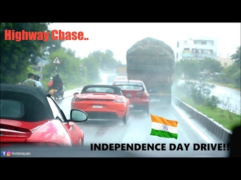 INDEPENDENCE DAY SUPER CAR DRIVE IN HYDERABAD(INDIA)