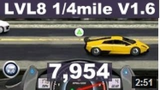 Drag Racing level 8 Lamborghini Murcielago LP 670 1/4 mile tune setup V1.6