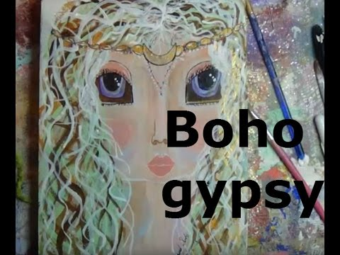Gypsy girl- painting