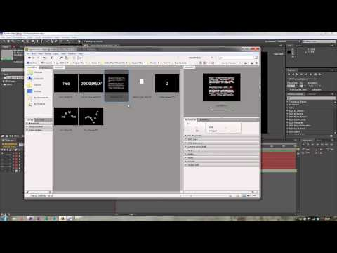 After Effects: Using & Customising the Dictionary Preset 1