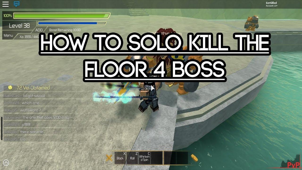 Roblox swordburst 2 how to solo kill the floor 4 boss for Floor 2 boss swordburst 2