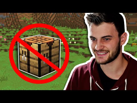 Minecraft Hardcore, But Crafting Is Banned