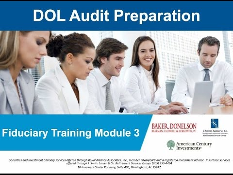 DOL Audit Preparation: Fiduciary Liabilities, Identity Theft and Online Security