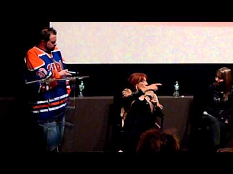 Kevin Smith Deborah Foreman Martha Coolidge discussing Valley Girl 1983