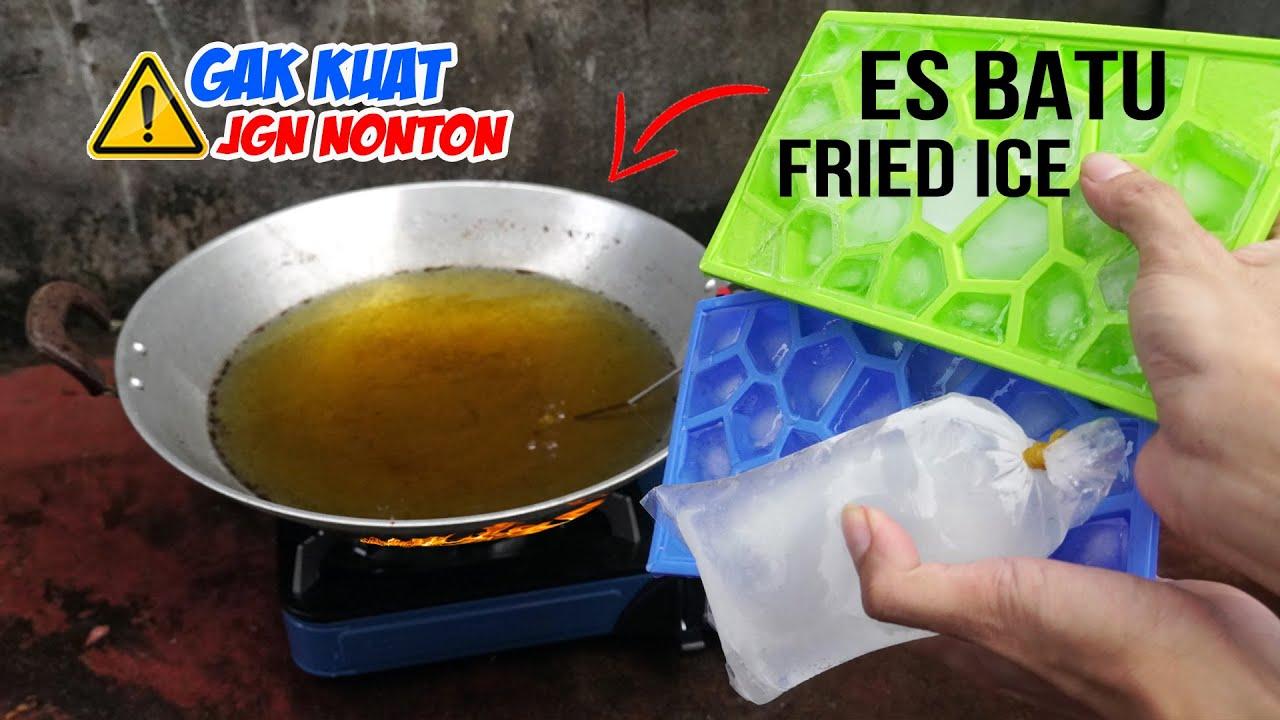EKSPERIMEN: Goreng Es Batu, Buah Naga, Lemon & Telur Mentah (Fried Experiment)