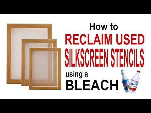 How to RECLAIM USED SILKSCREEN STENCILS using a BLEACH - Screen printing
