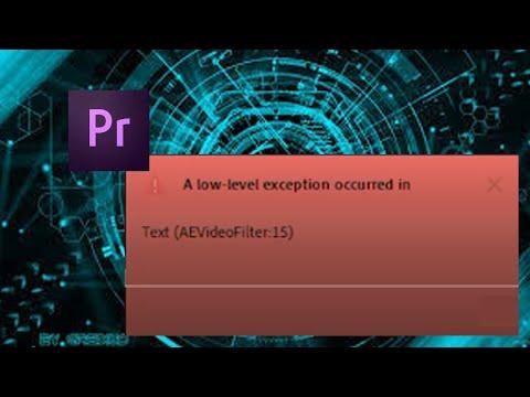 Adobe Premiere - TEXT AEVideoFilter:15 - FIX!!