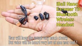 iBall Nano Earwear T9 Bluetooth Wireless Headset   hands-free Bluetooth Ear wear