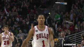 03-12-2011 Derrick Rose 26 Points Highlights vs Utah Jazz - (17 Pts. in 1st Qtr., 4 ast.)
