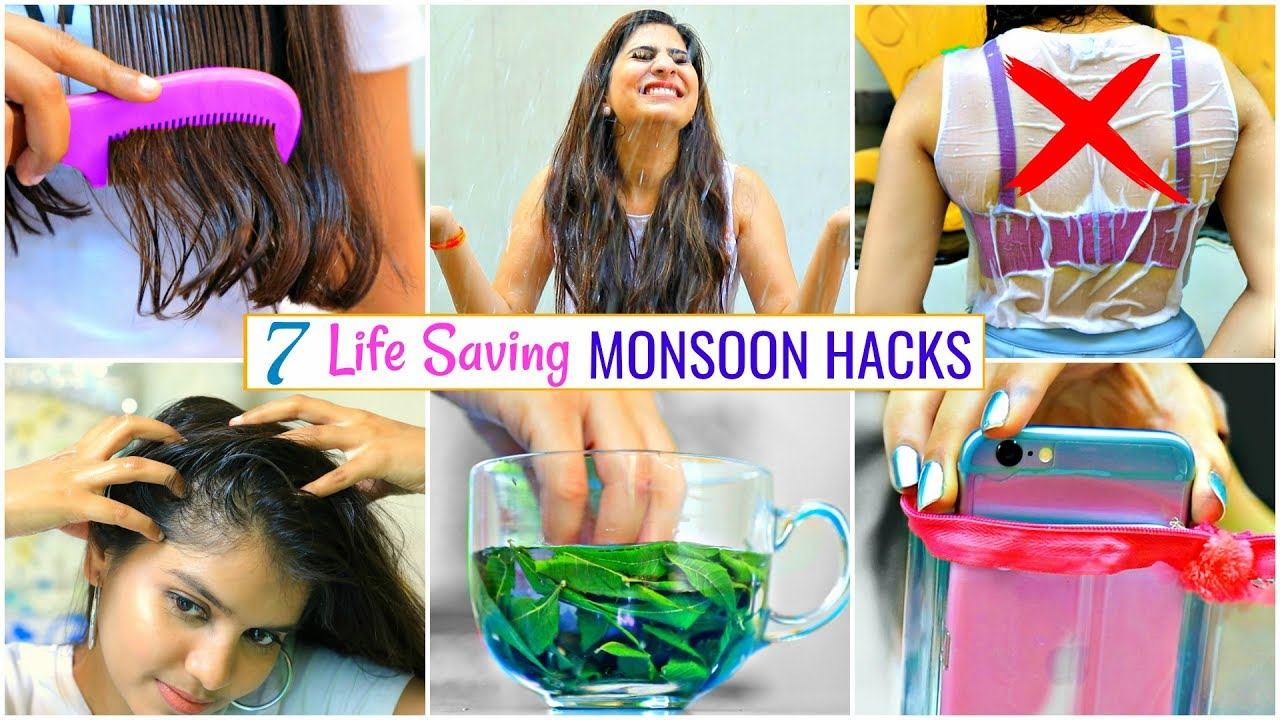 7 LIFE Saving Monsoon Hacks You MUST Know..| #Haircare #Skincare #LifeHacks #Anaysa