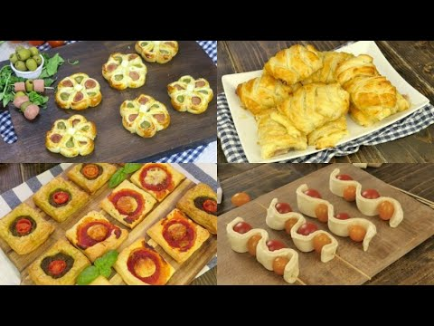 4 ways to use puff pastry to create tasty rustic dishes for your aperitifs