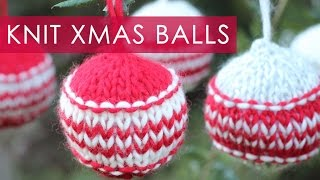 How To Knit Christmas Holiday Ornaments