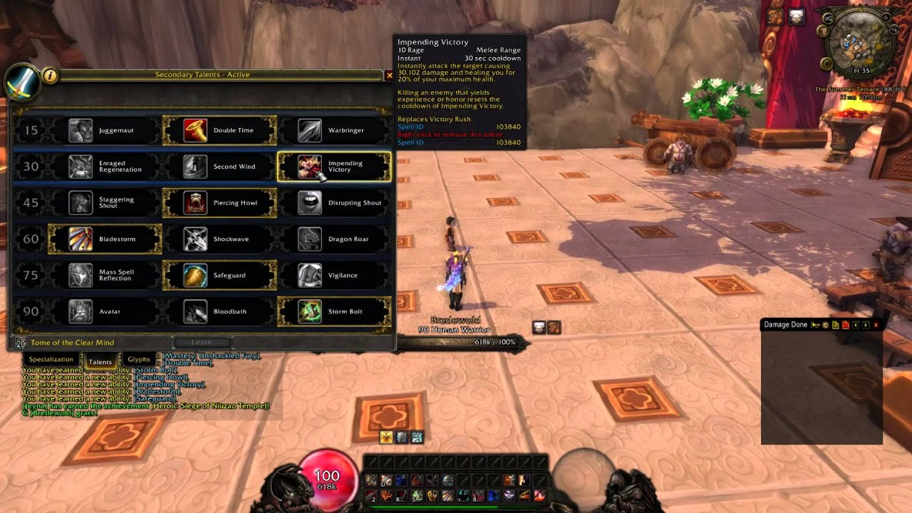 How to fury warrior in wow 5 4 8 pve youtube for Wow portent 5 4