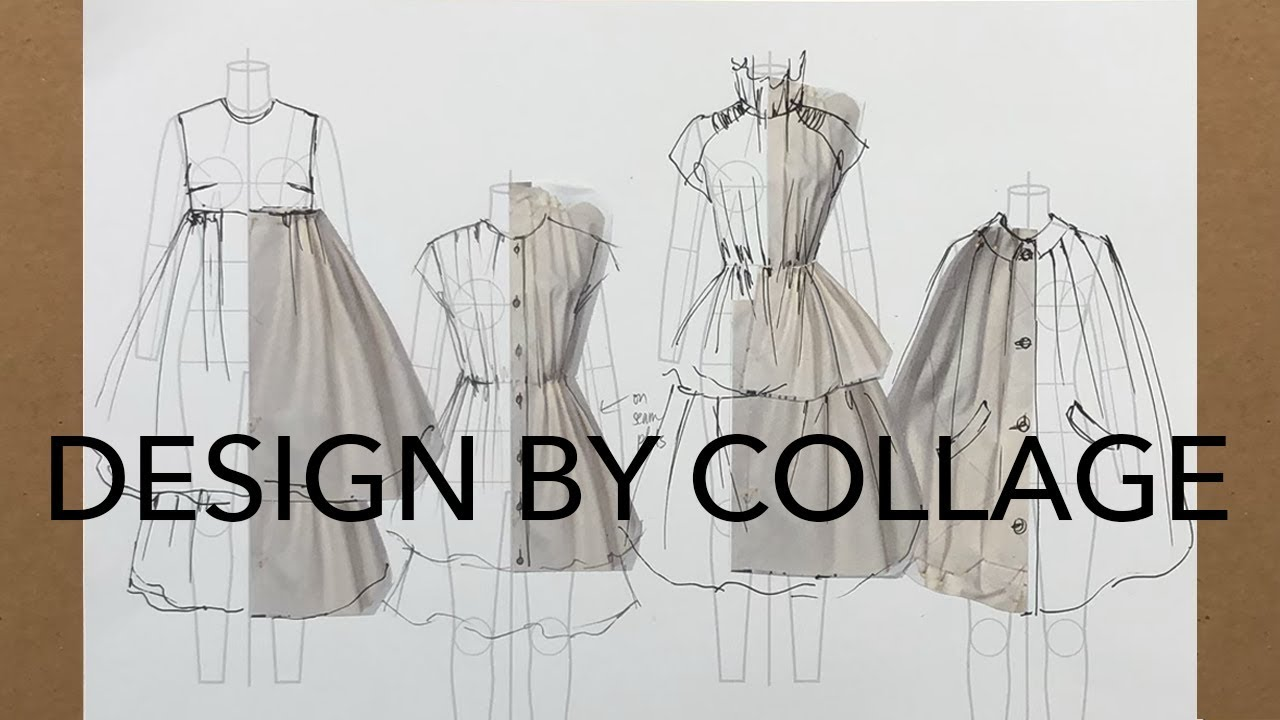 Fashion Design Tutorial Combining 3d 2d Elements To Design Youtube