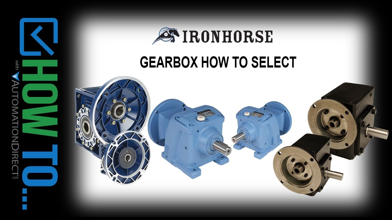 How To Select The Correct IronHorse Gearbox For Your