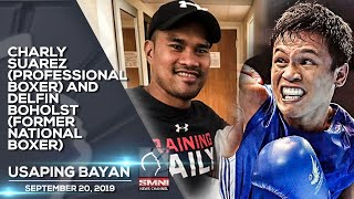 CHARLY SUAREZ PROFESSIONAL BOXER AND DELFIN BOHOLST FORMER NATIONAL BOXER