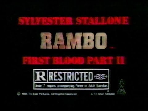 Rambo First Blood Part II TV Trailer (1985)