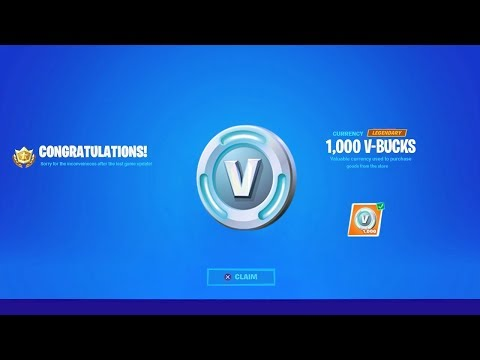 Fortnite Sent EVERYONE 1,000 V-BUCKS! (Thanks Epic)