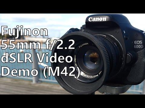 Shooting Video Demo: M42 Fujinon 55mm f/2 2 Lens (Canon 600d t3i dslr)
