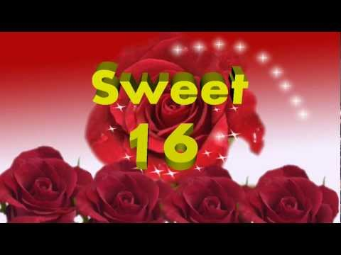 Sweet Sixteen 16 - Happy Birthday Video Greeting Card, Ecard