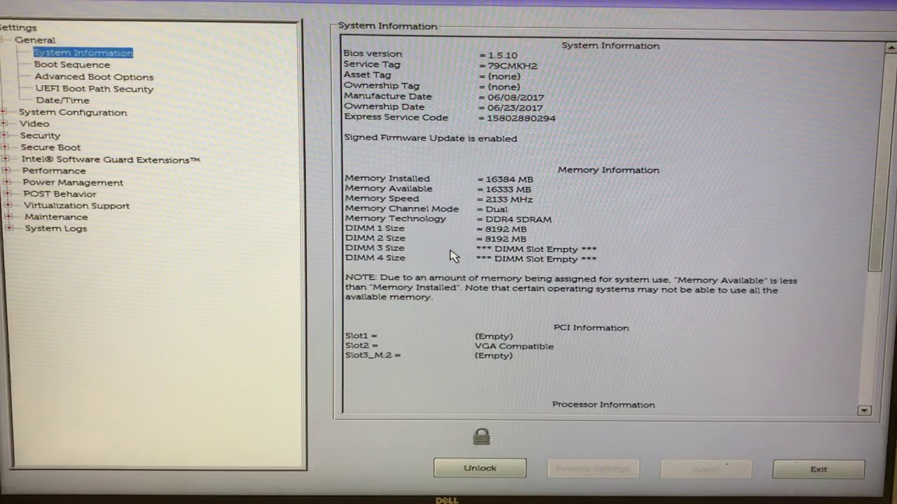 Dell OptiPlex 7040 Bios Factory Default