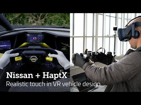 Nissan Design works with Haptx to bring realistic touch to VR vehicle design