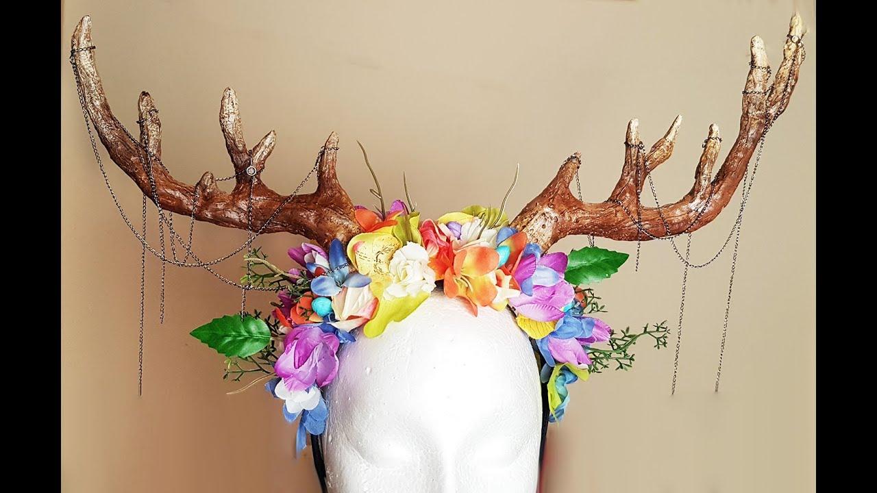 DIY Antler | Headdress - YouTube