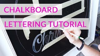 Chalkboard Lettering Tutorial - Christmas Welcome Sign