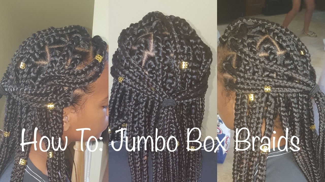 Jumbo Box Braids No Rubber Bands Youtube