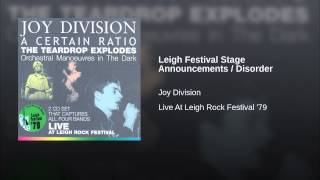 Leigh Festival Stage Announcements / Disorder