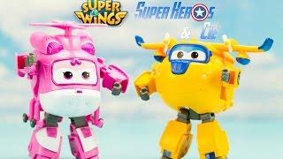 Super Wings Dizzy Donnie robots transformables en français 4k 출동슈퍼윙스 신제품 장난감 - 비행기 Робокар Поли