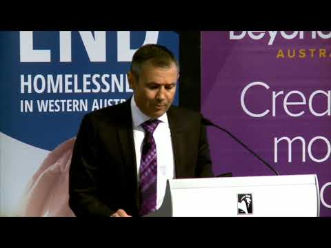 Hon. Roger Cook at Shelter WA's Mental Health, Housing and Homelessness Forum.