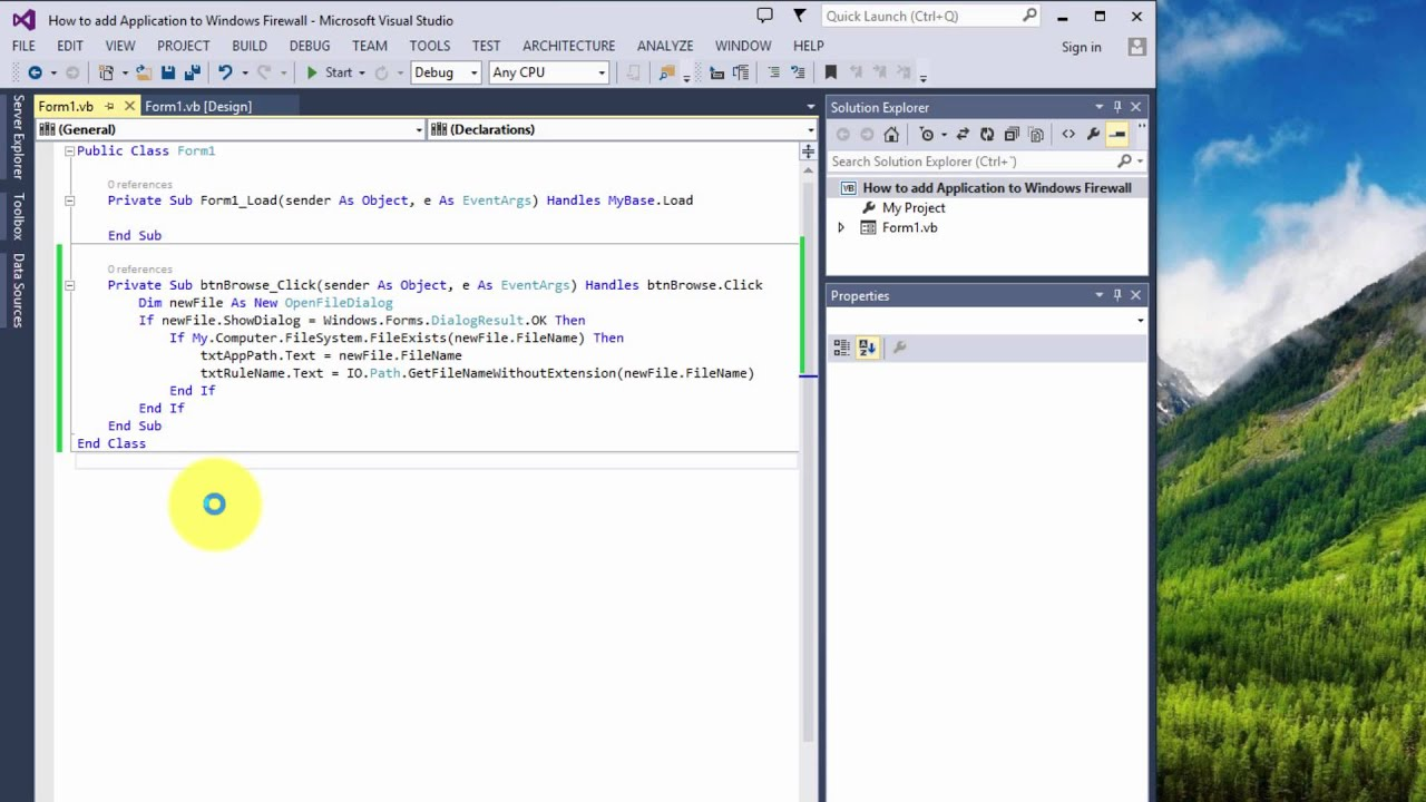 How To Add Application To Windows Firewall In Visual Basic 2010, 2013