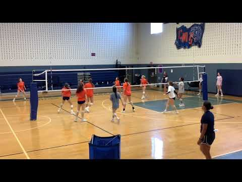 Wakeland High School Volleyball — Front v. Front Drill