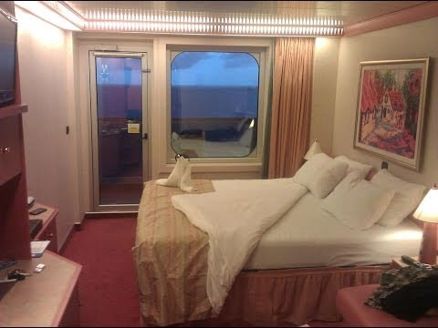 Carnival liberty balcony room video tour and review room for Balcony on cruise ship